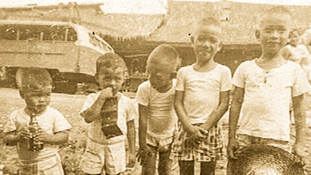 "A photo of me (second from left) with brother and my cousins. All of them have gone ahead to be with the Lord. This reminds me of the Beatles song, ""In my Life."""