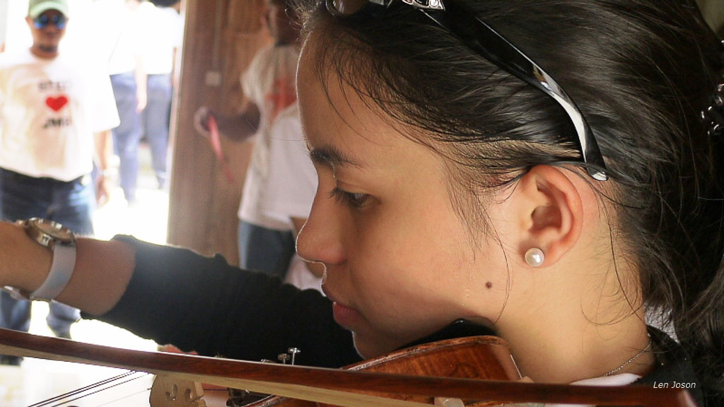 Lucy on violin